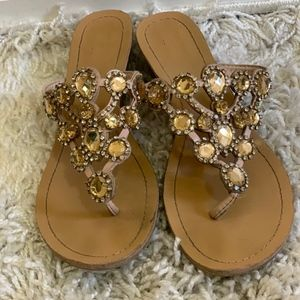 Madeline Stuart Gold Sandals